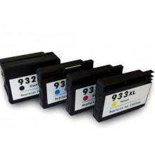 KIT 4 SERBATOI COMPATIBILE 932XL 933XL CN053AE CN054AE CN055AE CN056AE X 7110 wide format