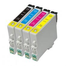 KIT 10 CARTUCCE COMPATIBILE T0611 T0612 T0613 T0614 X Stylus D88PE