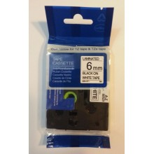 ETICHETTE COMPATIBILI TZ211 TZ-211 (TZE211 / TZE-211) BIANCO 6mmX8m per Brother P-Touch 1000
